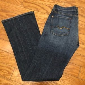 7 For All Mankind Bootcut Jeans Medium Wash 28